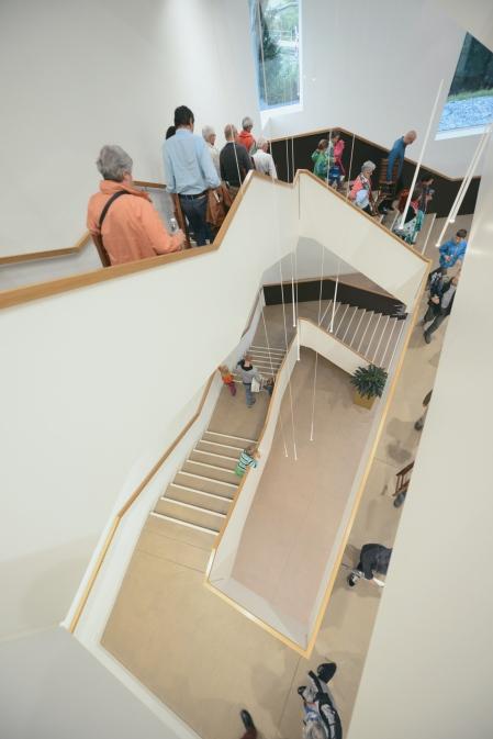 Beeindruckende Kulisse: die imposante Architektur der Berit Klinik.